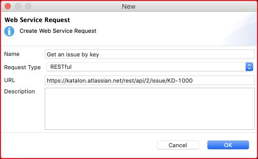 restful web services - web service request